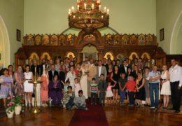 El primer matrimonio religioso en la Iglesia de la Santísima Trinidad y la Santísima Virgen de Kazán