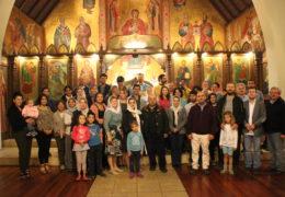 Oración del Canon al Santo Rey Esteban de Decani,  se sirvió en la parroquia ruso-serbia de San Nicolás de Serbia en Santiago, Chile