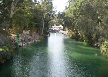 Milagro de la Teofanía – en el Río Jordán las aguas cambian su curso