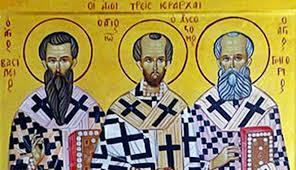 Сабор светих отаца наших, великих три jepapxa и васељенских учитеља Василија Великог, Григорија Богослова и Јована 3лaтоуста