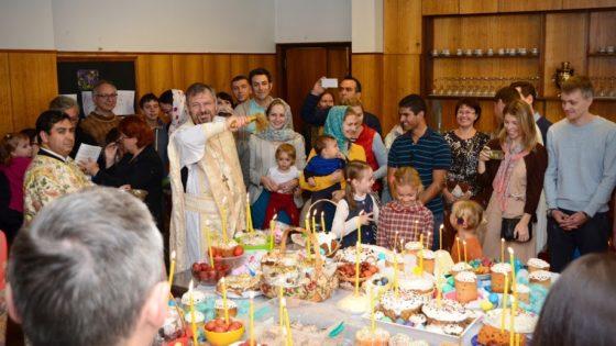 Празднование Пасхи в приходе Св. Николая Сербского в Сантьяго, Чили