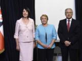 Presentacion de las Cartas credenciales de la Embajadora Jela Bacovic a la Presidenta de Chile, Michelle Bachelet y recepcion para la colectividad en Santiago de Chile