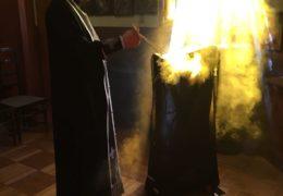 Servicio de responso fúnebre para recordar a los fallecidos en el incendio de Kemerovo en Santiago de Chile