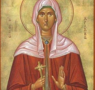 La santa Mártir, Cristina