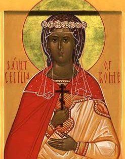 Santa mártir Cecilia