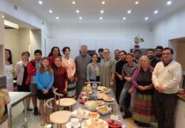 Celebración de la Gran Fiesta de la Anunciación en la parroquia de San Nicolás de Serbia en Santiago de Chile
