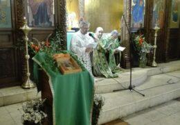 Celebración de la Gran Fiesta de Pentecostés  en la parroquia de San Nicolás de Serbia en Santiago, Chile