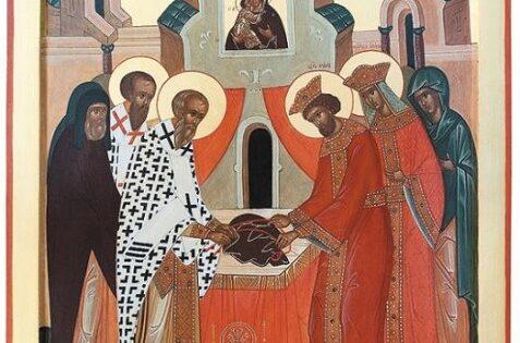 Colocación de la Preciosa Faja de la Madre de Dios en Constantinopla