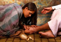 Jesús se conoce a dos pecadores y perdona a uno