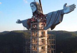 Estatua de Cristo en Estado del Sur Supera la de Rio para Ser la Más Grande de Brasil (FOTOS)