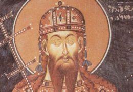 Святой Стефан Милютин, король Сербский, брат его Драгутин и мать их Елена