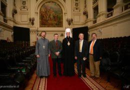 Reunión del Metropolita Ignaty en el Senado de la República de Chile