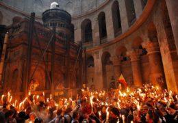 El Milagro del Fuego Santo, que se enciende espontánea y milagrosamente en Pascua en Jerusalén