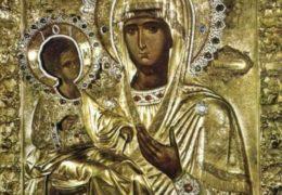 """El Ícono de la Madre de Dios  """"De las Tres Manos— Trojeruchitsa"""""""
