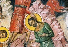 Mártir Andrés Stratelatos y los otros con el (2,593 Soldados) en Cilicia