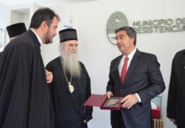 Capitanich recibió a autoridades de la Iglesia Ortodoxa Serbia