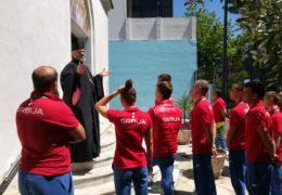 Hoy S. E. Obispo Kirilo recibió en el Templo al equipo de jóvenes que representan a Serbia en los Juegos Olímpicos de la Juventud