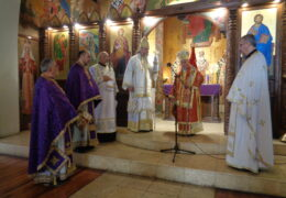 Прощенное воскресенье и первая неделя Великого поста в приходе Св. Николая Сербского