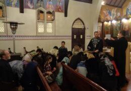 El Santísimo Sacramento de la Unción en la parroquia de San Nicolás de Serbia, Santiago de Chile