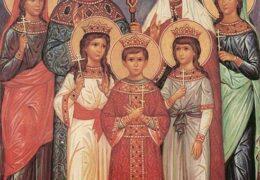 Los santos màrtires Zar Nicolás, Zarina Alexandra, Zarevich Aleksy, Grandes duquesas Olga, Tatiana, Anastasia y María