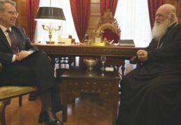 После встречи с послом США предстоятель Элладской Церкви сделал заявление: Если кто-то из предстоятелей позовет нас, я скажу «нет».