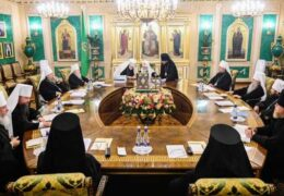 Состоялось заседание Священного Синода в «живом формате»